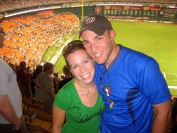 Tim and MB at a DC United game 2007