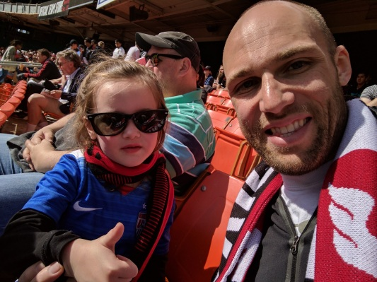 Tim and Annabelle watching DC United April 2017